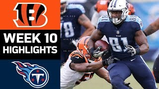 Bengals vs. Titans | NFL Week 10 Game Highlights