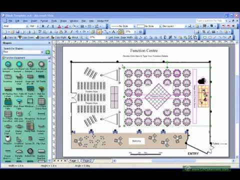 Event layout software demo youtube for Banquet floor plan software