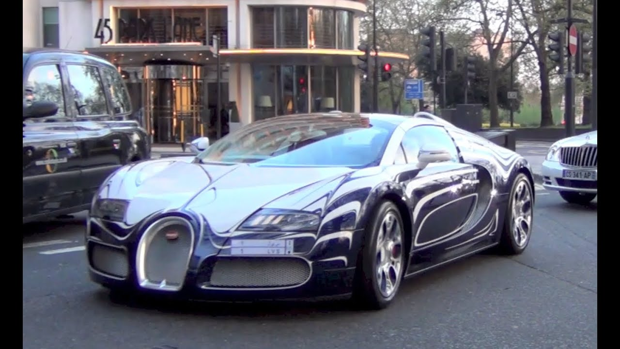bugatti veyron l 39 or blanc on the road in london engine sound and cruising youtube. Black Bedroom Furniture Sets. Home Design Ideas