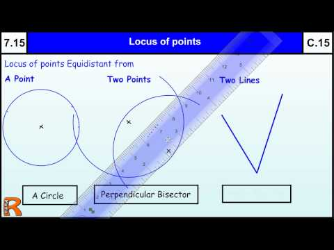 7.15 Locus of points (perpendicular & angle bisector)Maths Core Skills GCSE Grade C Level 7 help