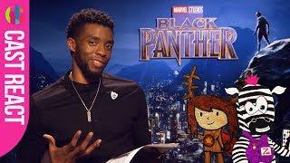 Black Panther cast react to kids' superhero drawings!