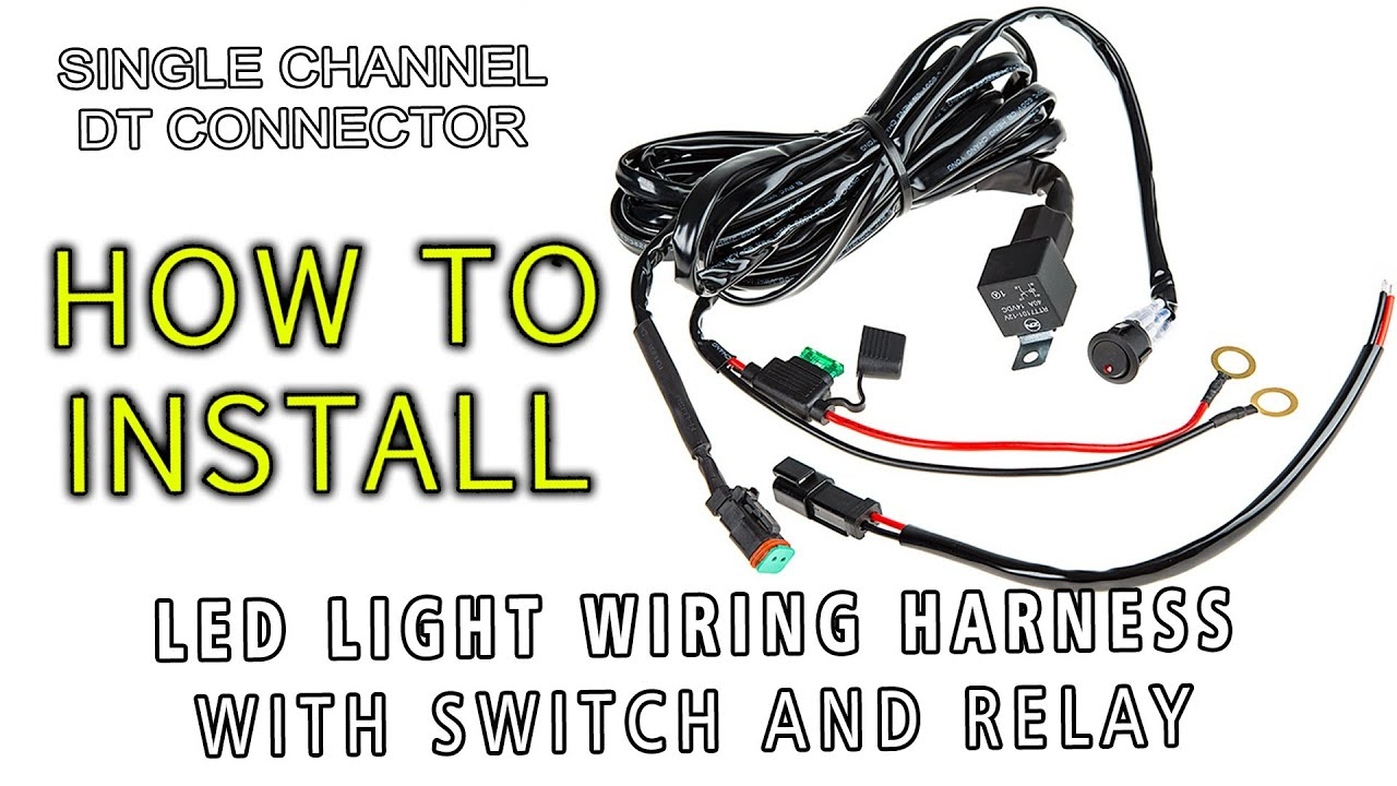 tuning light bar wiring diagram led    light       wiring    harness with switch and relay single  led    light       wiring    harness with switch and relay single