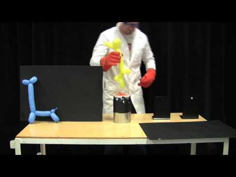 Balon -70 derece sıvı azotla karşılaşırsa