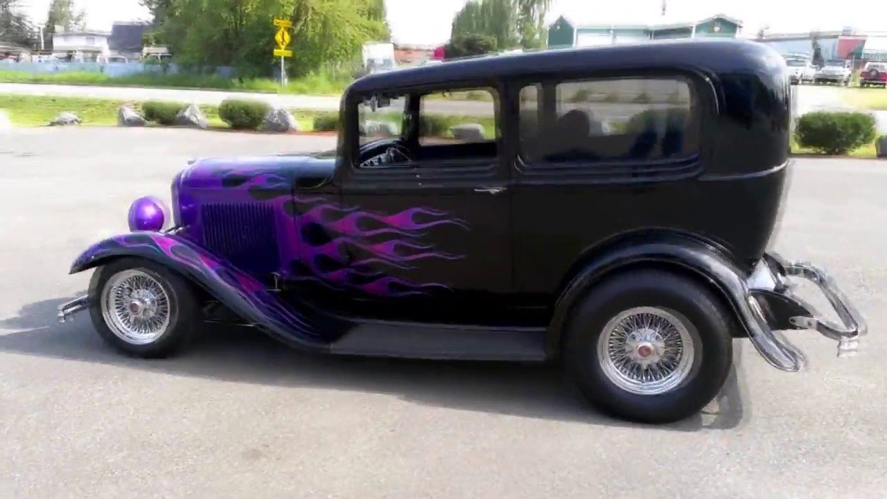 1932 ford 2 door sedan all steel youtube for 1932 ford four door