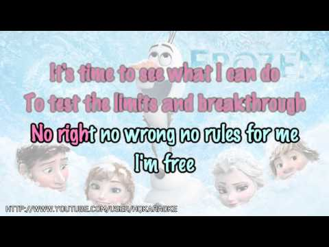 bai hat Let It Go  Frozen  Karaoke