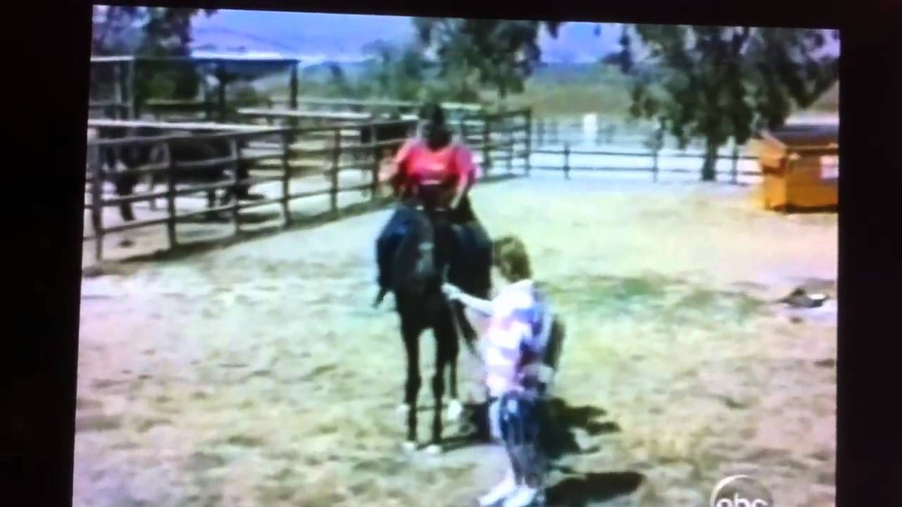 fat girl bucked off horse AFV Original - YouTube