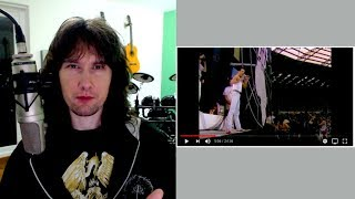 British guitarist reaction to Queen at LIVE AID. Why were they SO good?