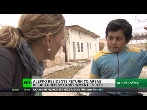 Humanitarian deal reached on War hit Homs, people return to embattled Aleppo