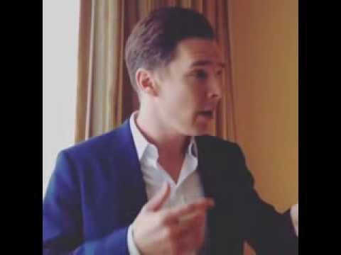 Benedict Cumberbatch Thanks for twitter Q&A by @thehobbitmovie