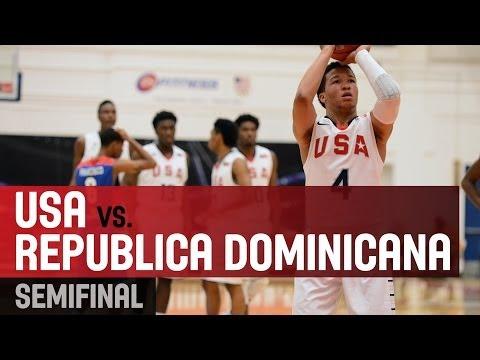 USA v Republica Dominicana - Semifinal 2 - 2014 FIBA Americas U18 Championship for Men