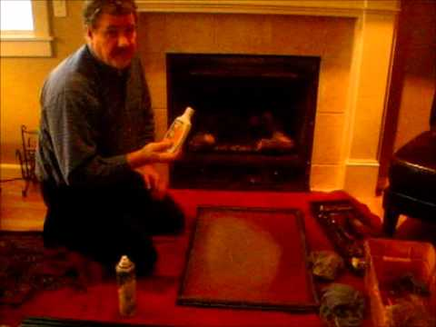 how to clean your gas fireplace glass youtube