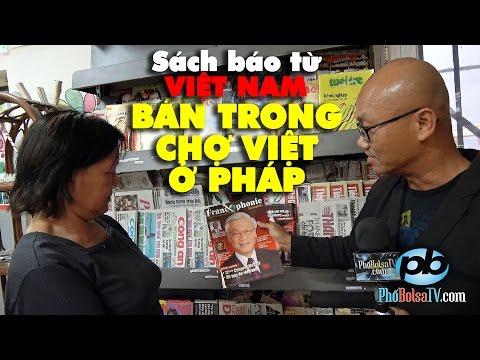 Báo từ Việt Nam trong chợ Việt ở Pháp: