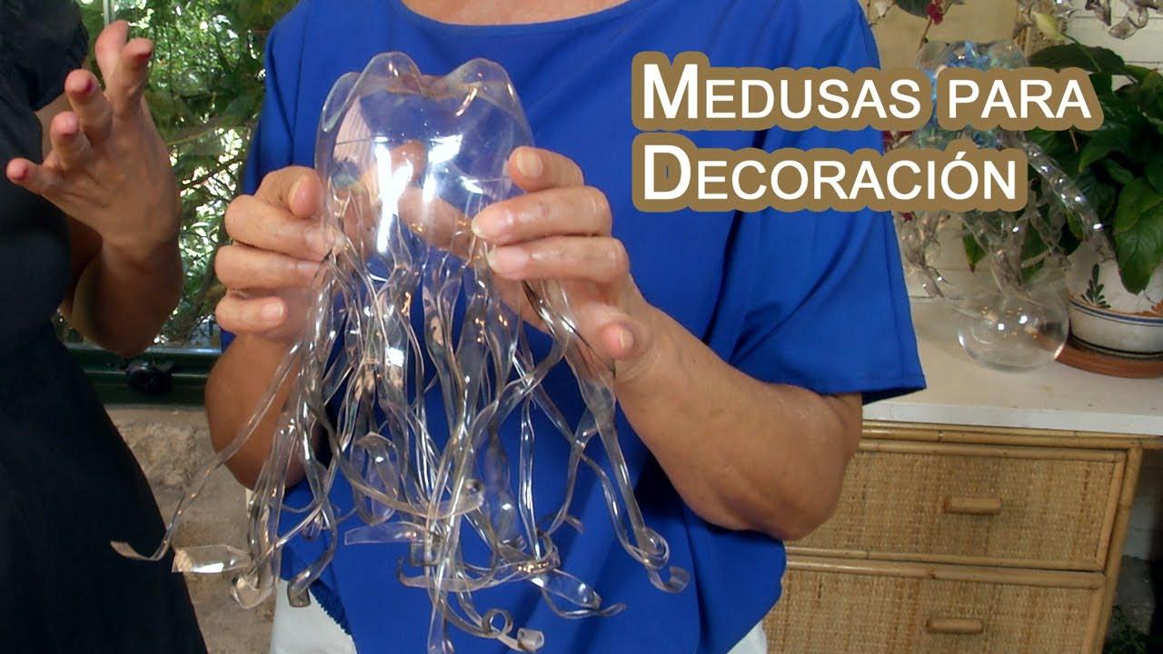 Decoracion medusas colgantes de botellas pet youtube - Decoracion de botellas ...