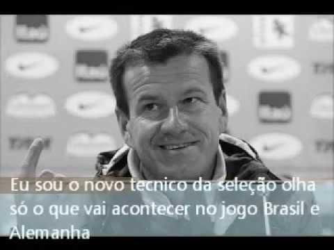 Novo técnico da seleção Dunga no jogo Brasil e Alemanha.