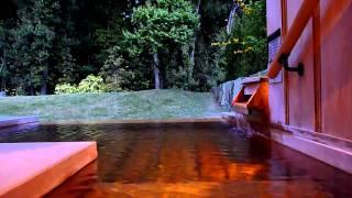 赤沢迎賓館の部屋露天風呂 Private open-air bath at Akazawa Geihinkan view on youtube.com tube online.
