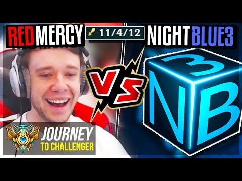 FOUND NIGHTBLUE3 IN SOLO Q!! SHOWDOWN TIME - Journey To Challenger | League of Legends