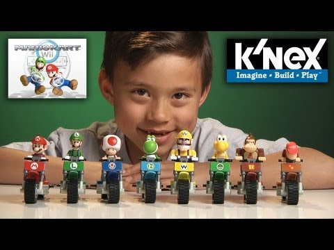 K'Nex WEEK Day #2 - MARIO KART Wii BIKE BUILDING SET