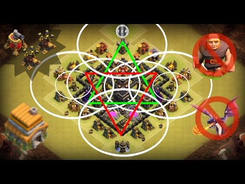 Best Th6 war base / Anti Dragon & Anti Giant / 2 air defense & air sweeper / 2016 / New