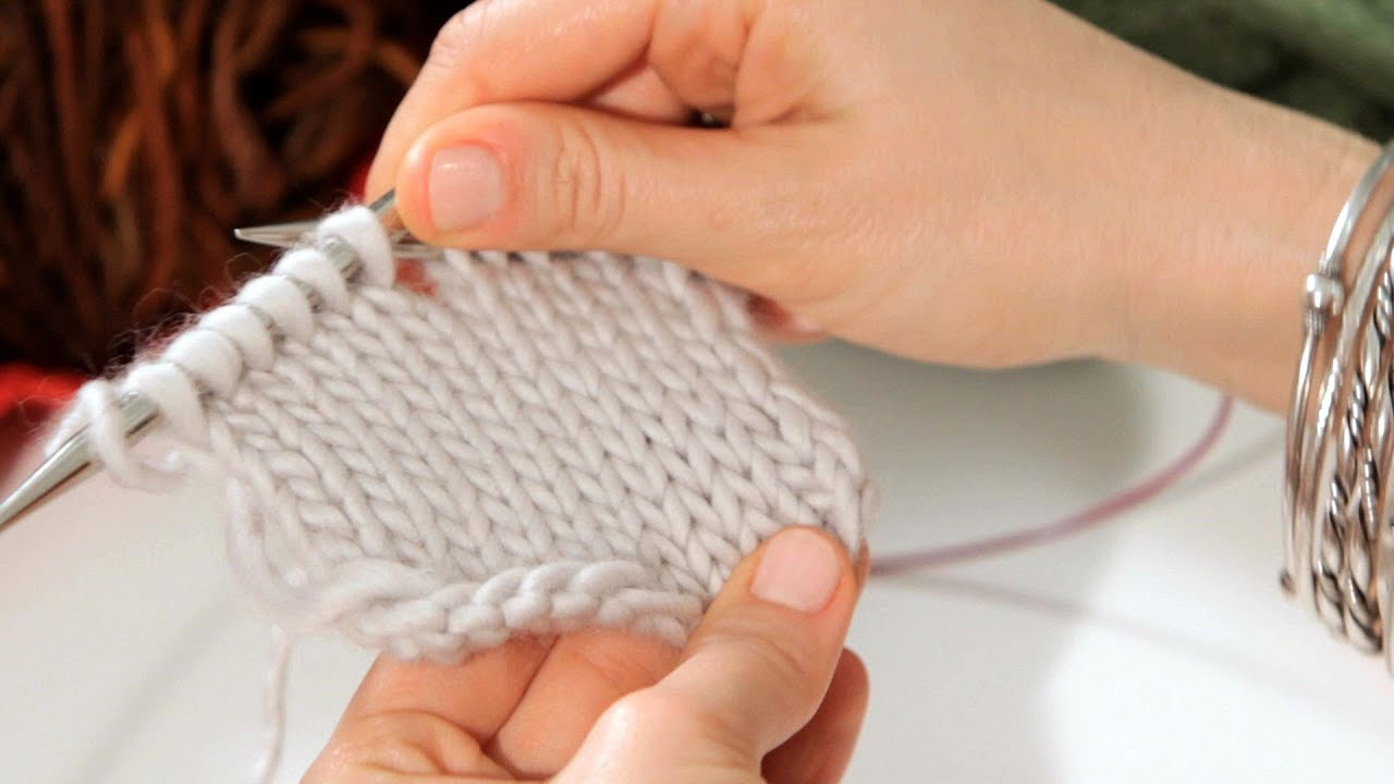 How to Do a Stockinette Stitch Knitting - YouTube