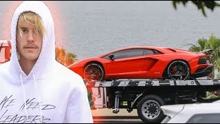 EXCLUSIVE - Justin Bieber Gets $500K Lamborghini Aventador Delivered To His Luxury Beach Hotel