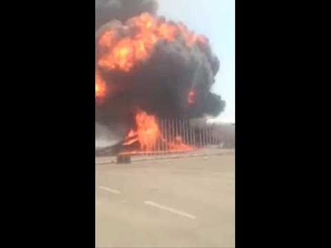 Libya - Afriqiyah Airways Airbus explodes as militias attack on Tripoli's Airport Continue