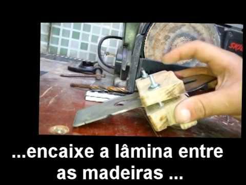 Aparelho para afiar formão e lâminas de plaina