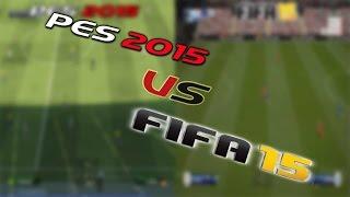 PES 2015 Vs FIFA 15 Gameplay [HD]