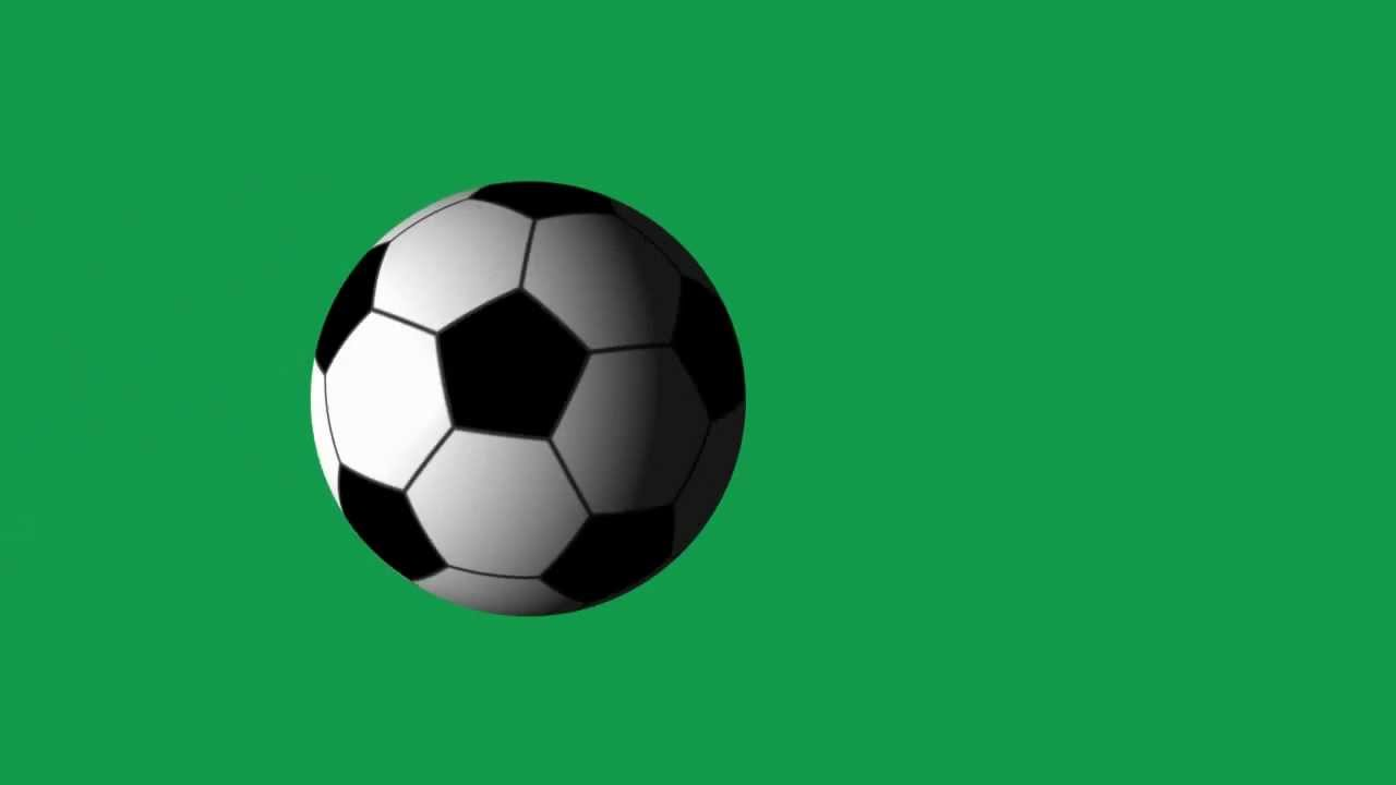 Soccer Ball Spinning Animation on Green Screen - YouTube Rolling Soccer Ball