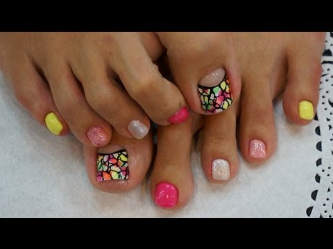 how to Art Pedicure @gel nail art, Korea nail shop - YouTube