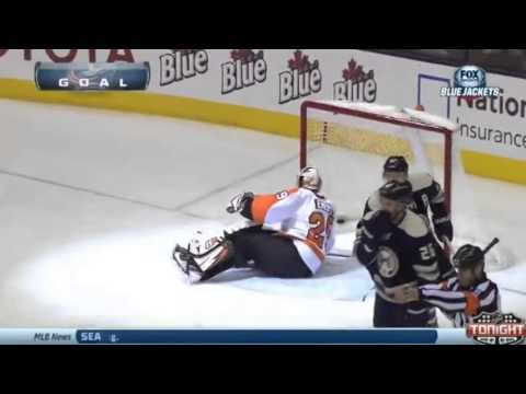 Jack Johnson Goal - Philadelphia Flyers v Columbus Blue Jackets - January 23 2014