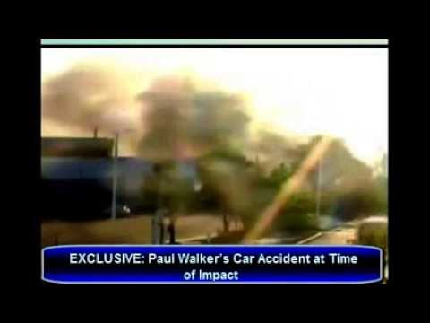 Paul Walker Accident Live Video... Car in Flames