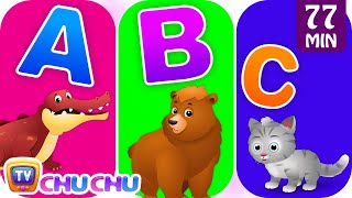 ChuChu TV Alphabet Animals Song with Animal Names & Animal Sounds | Nursery Rhymes for Kids