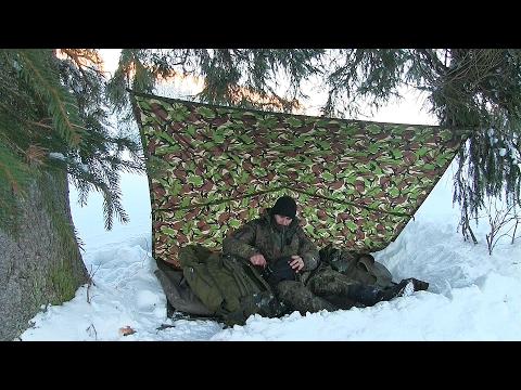 Solo Mountain Winter Overnight Bushcraft Camp