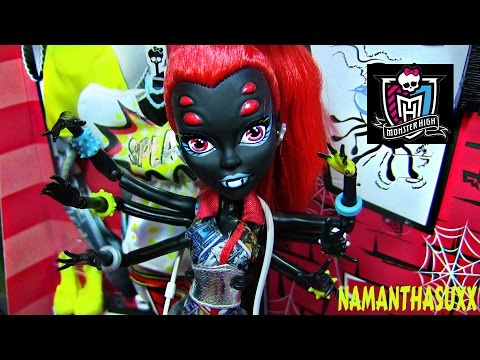 MONSTER HIGH I LOVE FASHION WYDOWNA SPIDER DOLL REVIEW VIDEO!!!