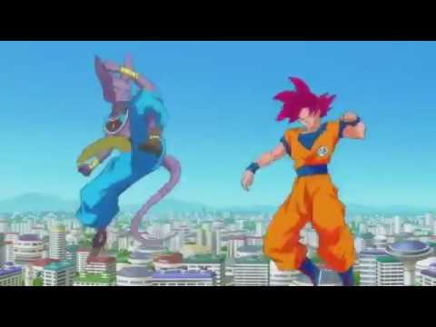 Dragon ball z, la batalla de los dioses   Goku vs Bills, AMV HD Full fight)
