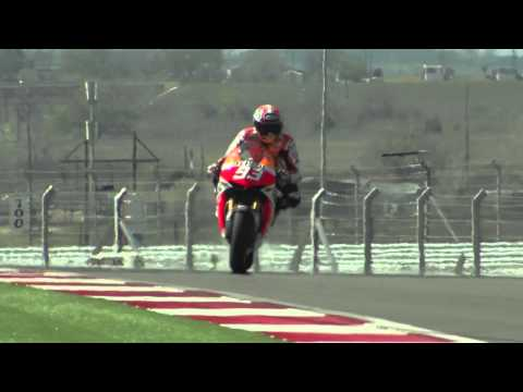 MotoGP: Test Austin Day 3, Marc Marquez e Dani Pedrosa in azione -- Video HD