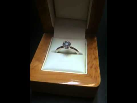 Tiffany Style Solitaire Engagement Ring with Five Claws 'Sienna'