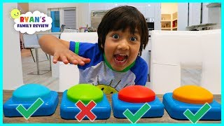 Don't Push The Wrong Button Challenge with Ryan's Family Review!