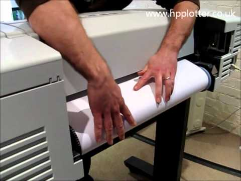 Designjet 510/510PS Series - Load paper/media roll on your printer