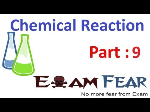 Chemistry Chemical Reaction part 9 (Displacement reaction) CBSE class 10 X