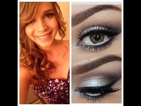 Smokey Makeup: eyes Silver Prom/Formal  Eye  makeup brown white  dress YouTube for