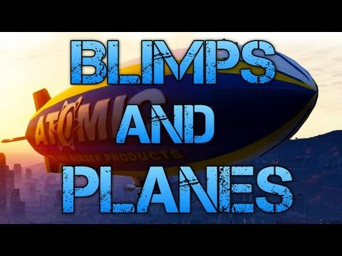 Grand Theft Auto V | ATOMIC BLIMP & JET GAMEPLAY | PS3 HD