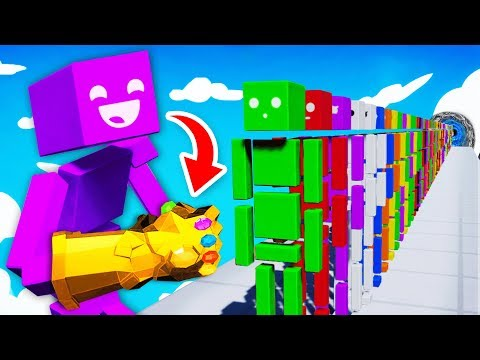 Assembling NEW INFINITY GAUNTLET To DESTROY RAGDOLLS (Fun With Ragdolls: The Game Funny Gameplay)