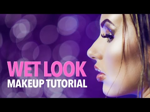 Wet look makeup & hair tutorial