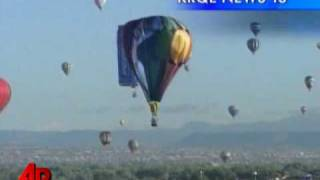 Raw Video: Hot Air Balloon Crashes Into Tent
