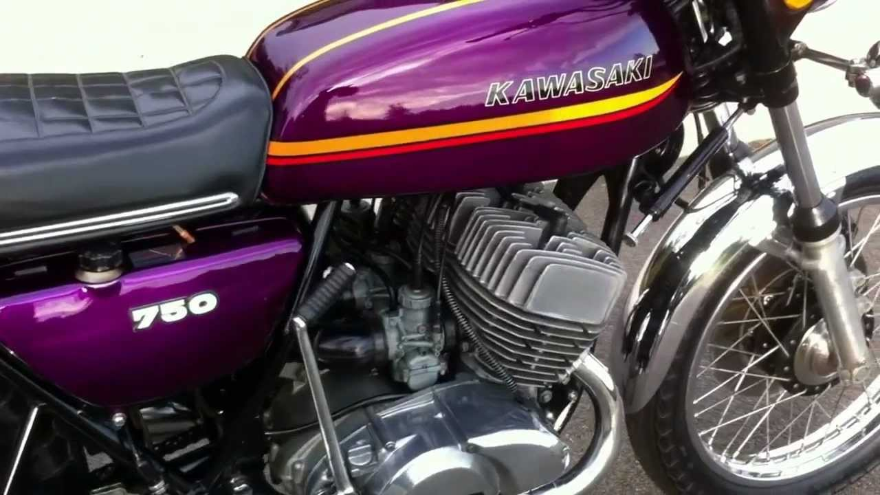 Kawasaki h2a 750 1973 triple 2 stroke youtube