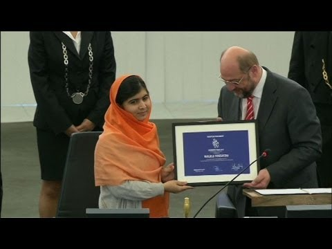 Pakistan's Malala receives EU Sakharov rights prize