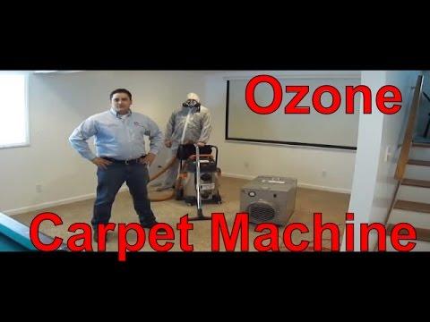ozone carpet cleaning machine