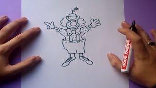 איך לצייר ליצן
