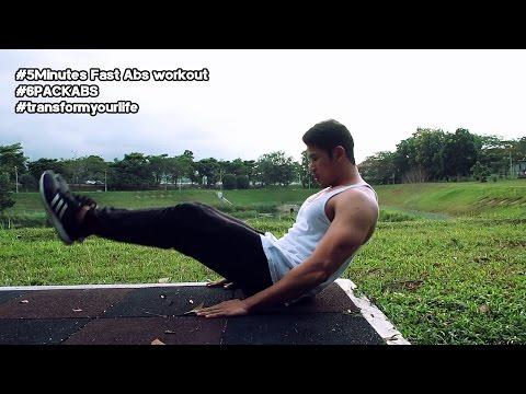 5 Minit Abs Workout | Sakit Serta Merta | Strongman Fitness